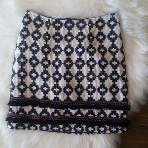 Merona Ikat Pattern Fringe Mini Skirt
